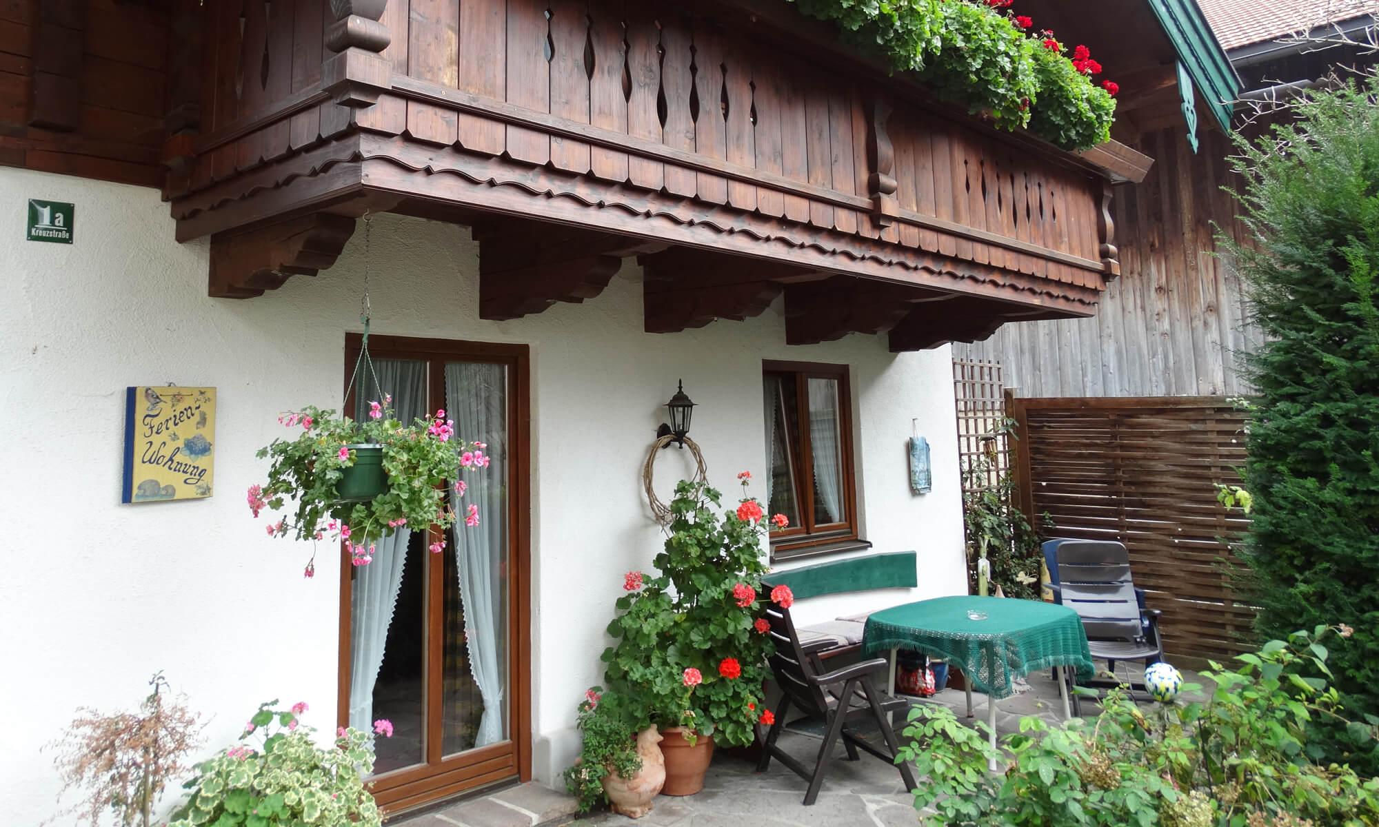 Stöcklhof Rottau: Terrasse Ferienwohnung EG